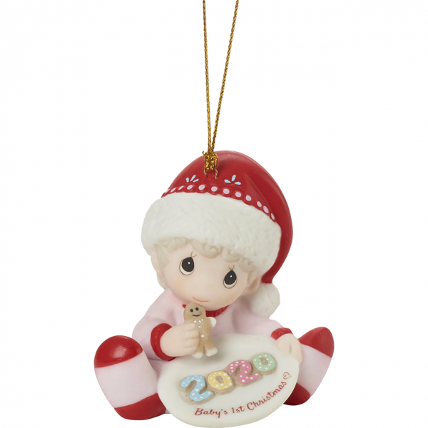 Baby's 1st Christmas 2020 - Dated Girl Ornament