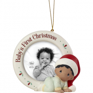 Baby's 1st Christmas - Photo Frame Ornament - African-American