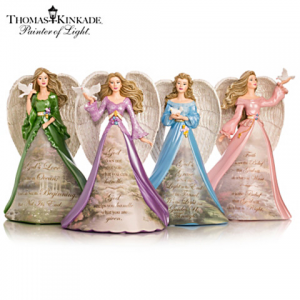 Thomas Kinkade Angels Of Peace Figurine Collection